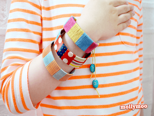 Popsicle Stick Bracelets by Molly Moo Crafts