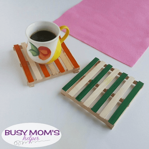Popsicle Stick Coasters by Busy Mom's Helper