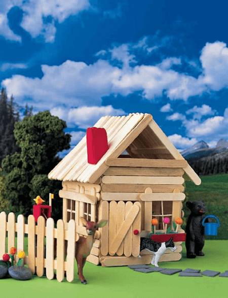 Popsicle Stick House by Martha Stewart