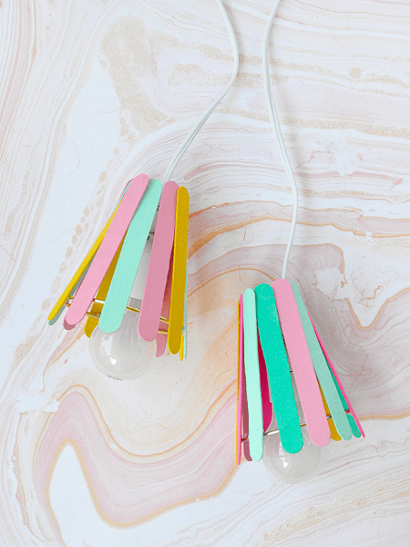 Popsicle Stick Lamp by Handmade Charlotte