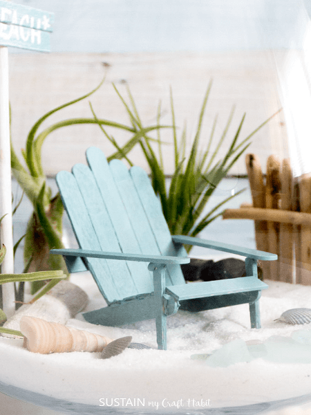 Popsicle Stick Mini Adirondack Chair by Sustain My Craft Habit