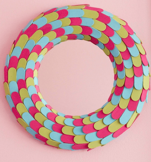 Popsicle Stick Mosaic Mirror by Little Bits Of Home