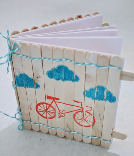 Popsicle Stick Notebook Cover by In My Blue Room