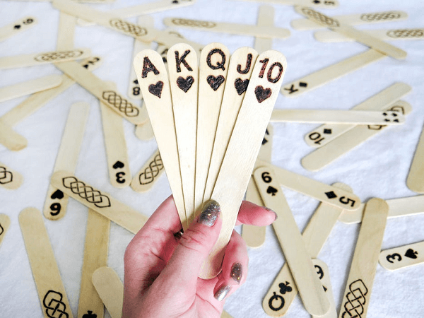 Popsicle Stick Playing Cards by Instructables