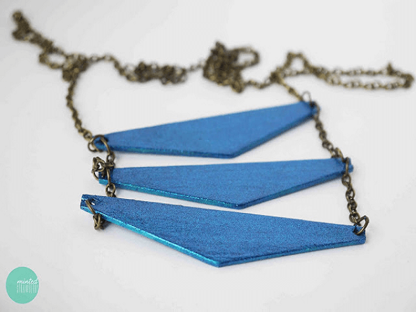 Popsicle Stick Triangle Necklace by Minted Strawberry