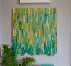 Popsicle Stick Wall Art by Aunt Peaches