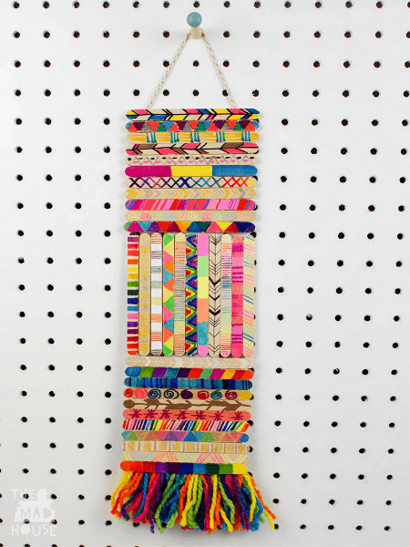 Popsicle Stick Wall Hanging by Mum In The Mudhouse