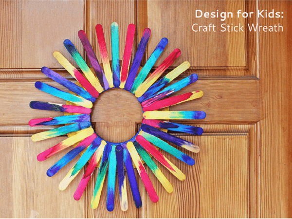 Popsicle Stick Wreath by Babble Dabble Do