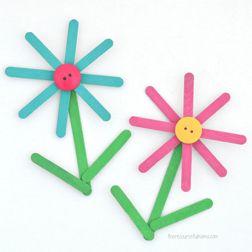 Popsicle Sticks Flower Craft by The Resourceful Mama