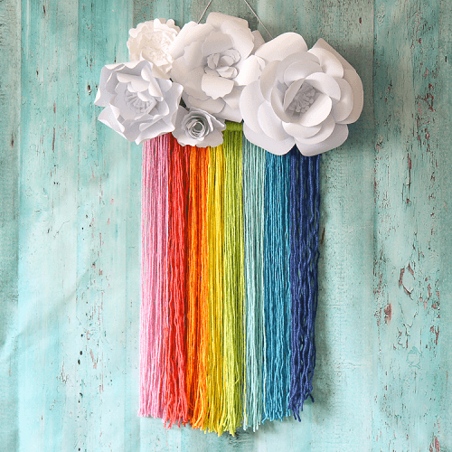 Rainbow Macrame Wall Hanging Pattern by The Craft Patch