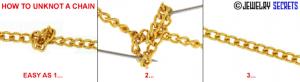 unknot jewelry untangle chain how to fix a borken metal bracelet