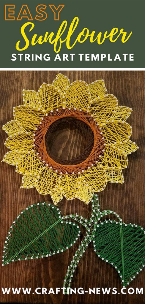 Easy Sunflower String Art Template