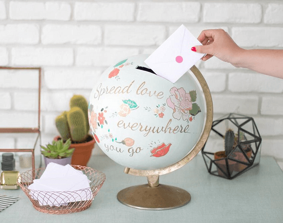 DIY Globe Piggy Bank by Un Beau Jour