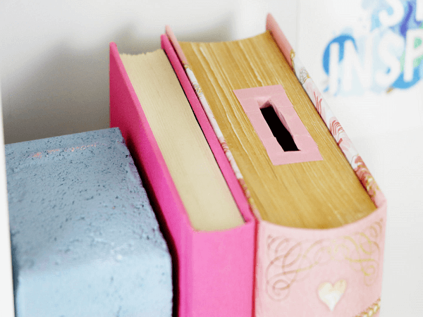 Diy Piggy Bank Made From A Book by Karen Kavett