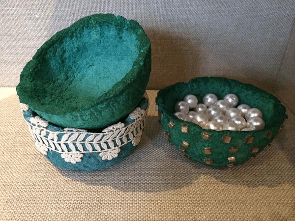Egg Carton Bowls by Elsie Deliz-Fonsec