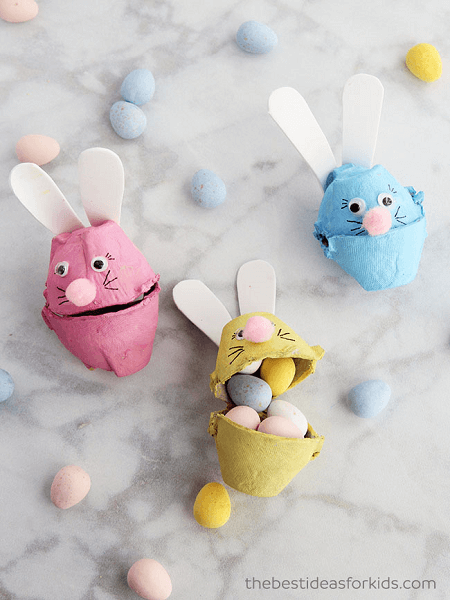 Egg Carton Bunny by The Best Ideas For Kids