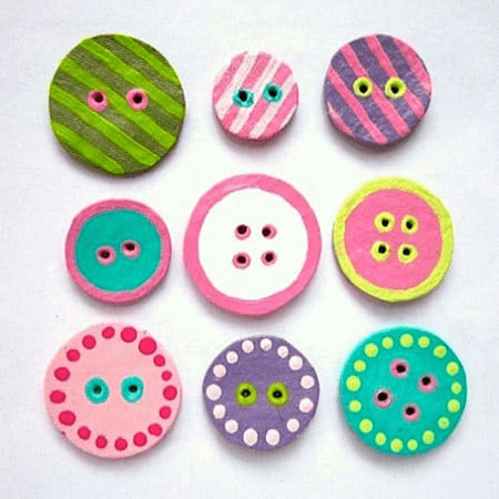 Egg Carton Buttons by Pretty Little Things