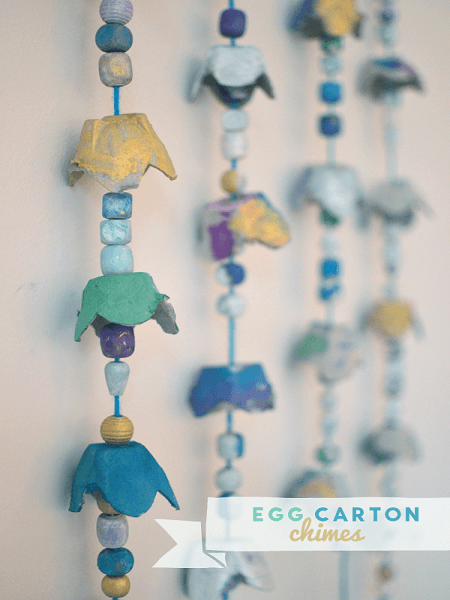 Egg Carton Chimes by Art Bar