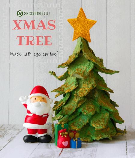 Egg Carton Christmas Tree by Seconds Guru