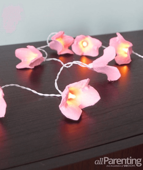 Egg Carton Fairy Lights by All Parenting