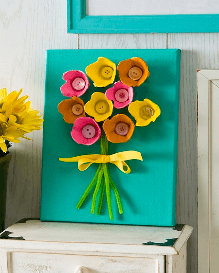 Simple Egg Carton Flowers by Mod Podge Rocks