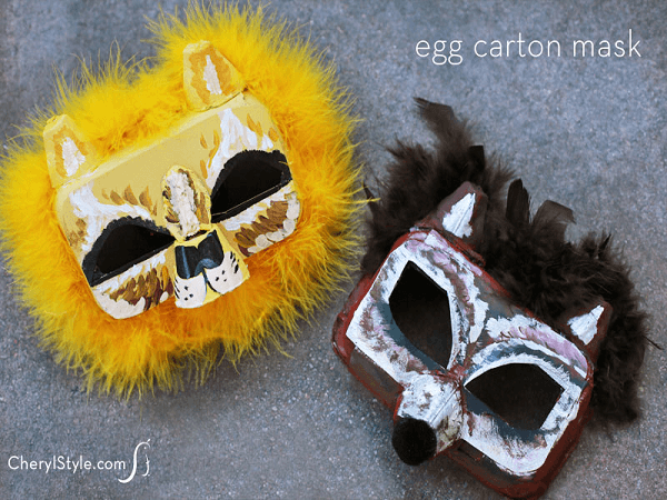 Egg Carton Masks by Everyday Dishes
