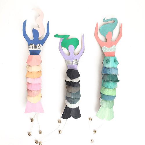 Egg Carton Mermaid Dolls by Art Camp