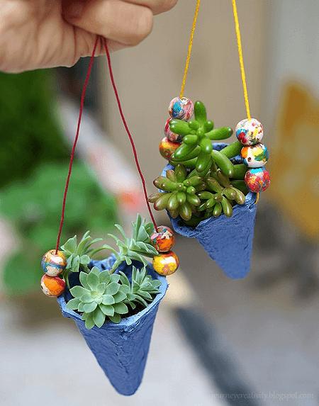 Egg Carton Pots by Journey Into Creativity