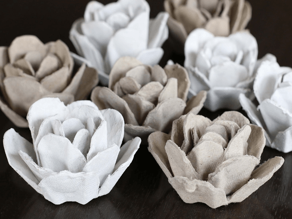 Egg Carton Roses by Bliss Bloom Blog