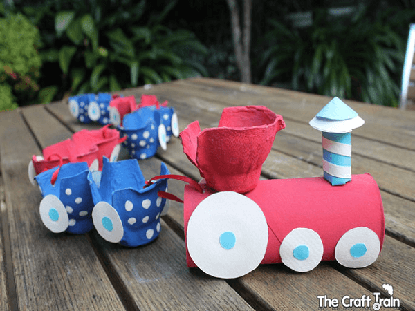 Egg Carton Train by The Craft Train