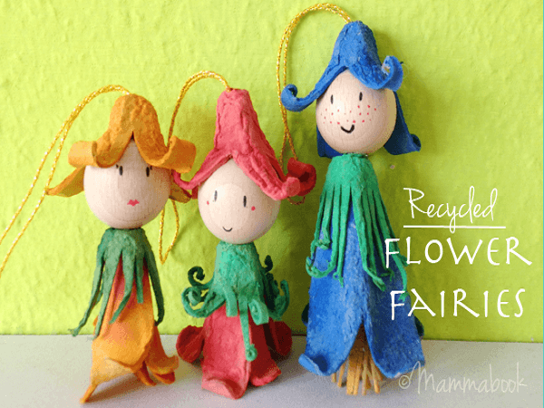 Simple Egg Cartons Flower Fairies by Cucicucicoo