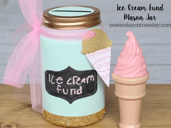 Ice Cream Fund Mason Jar by Yesterday On Tuesday