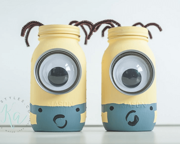 Minion Mason Jar Coin Banks by KA Styles