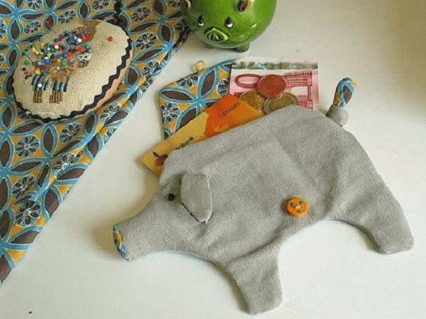 Piggy Bank Pouch by Nosey Nest