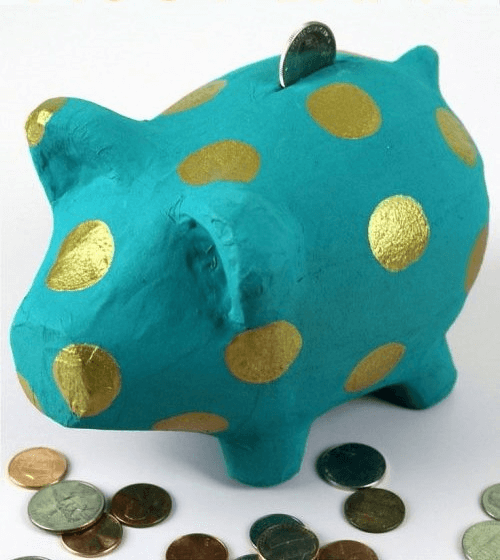 Painted Polka Dot Piggy Bank by The Crafty Blog Stalker