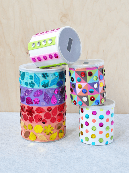 Sequins Piggy Banks by Handmade Charlotte