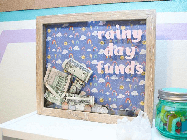 Shadow Box Frame Piggy Bank by Jennifer Perkins