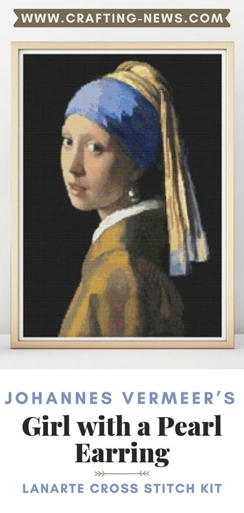 Johannes Vermeer's Girl with a Pearl Earring Lanarte Cross Stitch Kit
