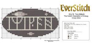 Desolation of Smaug - Kili's Talisman Cross Stitch Pattern