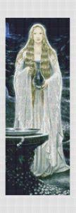 Galadriel's Mirror Cross Stitch Pattern