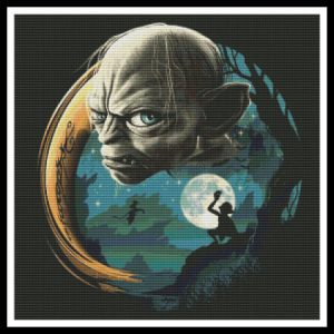 Gollum, Lord Of The Rings Cross Stitch Pattern