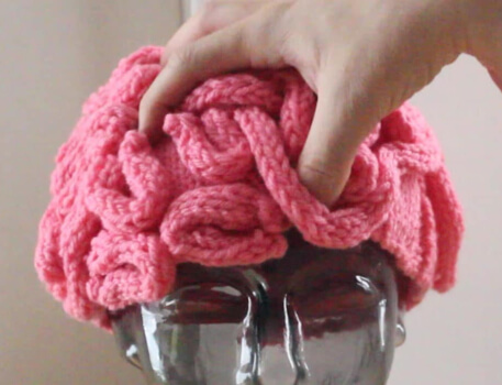 Knitted Brain Hat Pattern