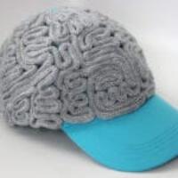 Knitted Grey Brain Cap