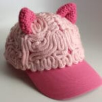 Knitted Pussy Brain Cap