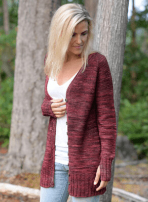 Ladies Cardigan Knitting Pattern With Long-Sleeves from Knitting news.com