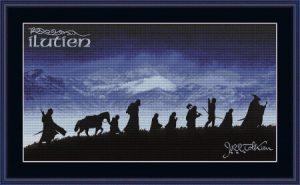 The Fellowship silhouettes Cross stitch pattern