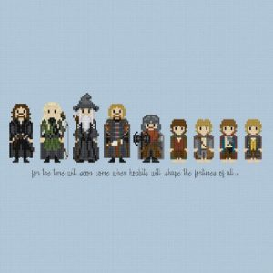 The Lord of the Rings The Fellowship Cross Stitch Pattern