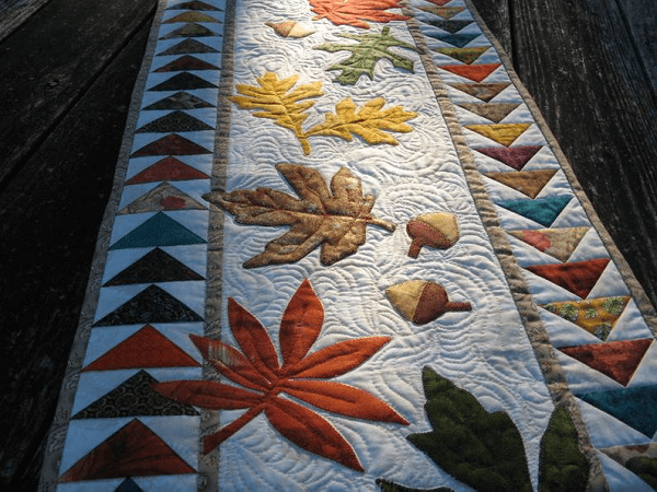 Autumn Flight Table Runner Quilt Pattern by Klee 2 Strings