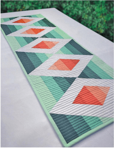 Aztec Diamond Quilted Table Runner Pattern by Jambearies