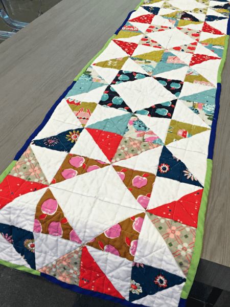 Contemporary Table Runner Quilt Pattern by The Stitching Scientist
